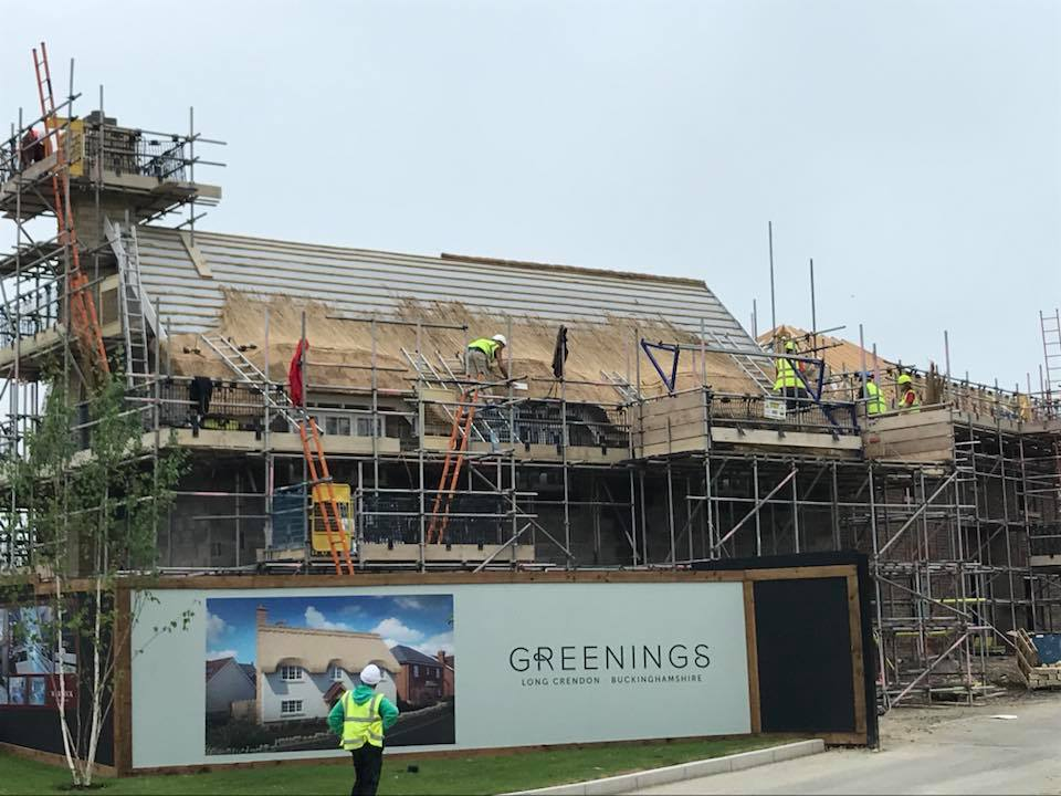 Spitfire New Build Thatching In Long Crendon Heart Of