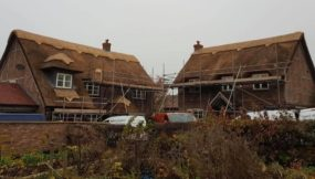 A Busy Week Repairing Thatched Ridges in Market Bosworth