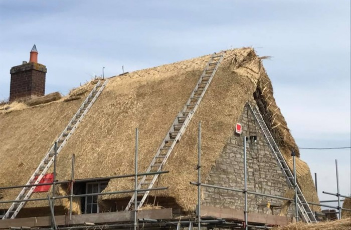 Large Re-Thatch & New Ridge