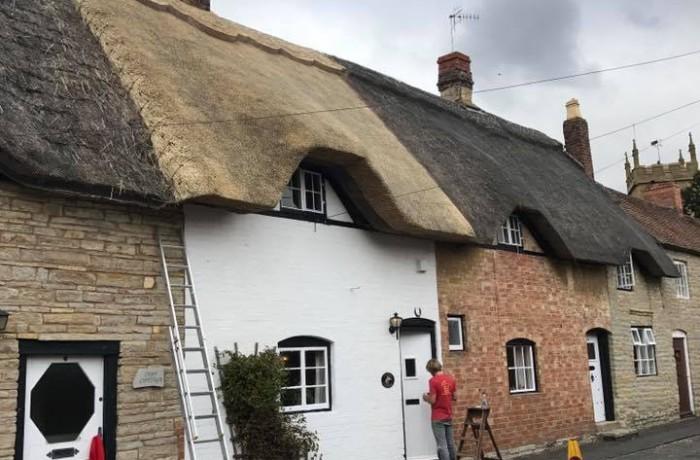 Re-thatch – Bretforton, Evesham