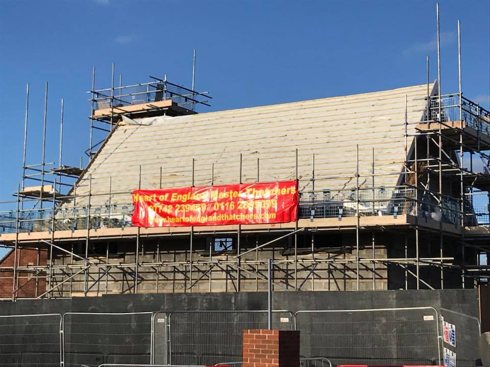 Fire Proofing On New Build Thatched Roofs Heart Of England